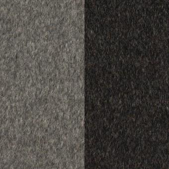 カシミア&ウール×無地(グレー&チャコール)×ビーバー(Wフェイス)