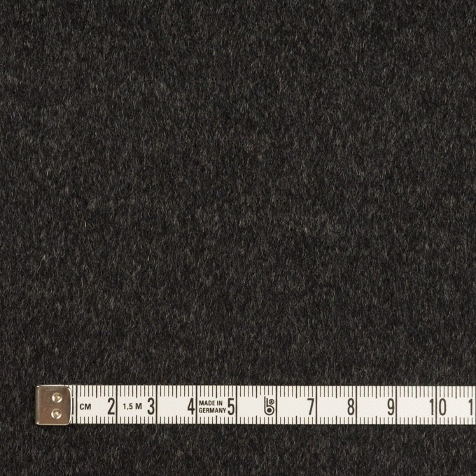 カシミア&ウール×無地(グレー&チャコール)×ビーバー(Wフェイス) イメージ6