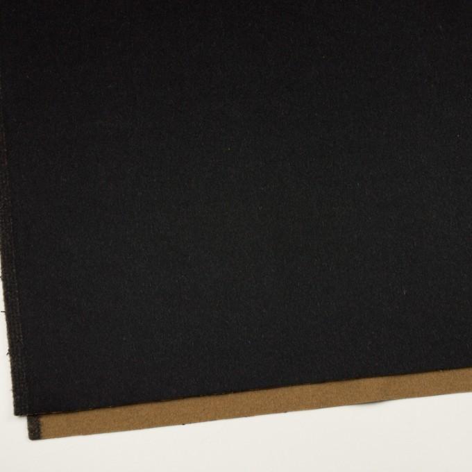 ウール&カシミア×無地(ブラック&オーカー)×ビーバー&フラノ(Wフェイス) イメージ2