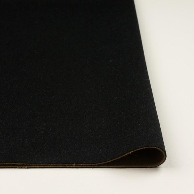 ウール&カシミア×無地(ブラック&オーカー)×ビーバー&フラノ(Wフェイス) イメージ3