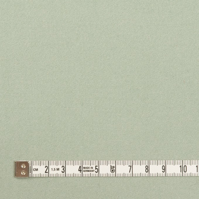 ウール×無地(アトモスグリーン)×フラノ(フランネル) イメージ4