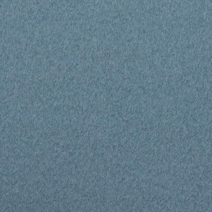 ウール×無地(ゼニスブルー)×フラノ(フランネル) イメージ1