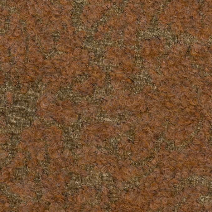 モヘア&シルク混×ミックス(カーキ&モカ)×ジャガード_イタリア製 イメージ1