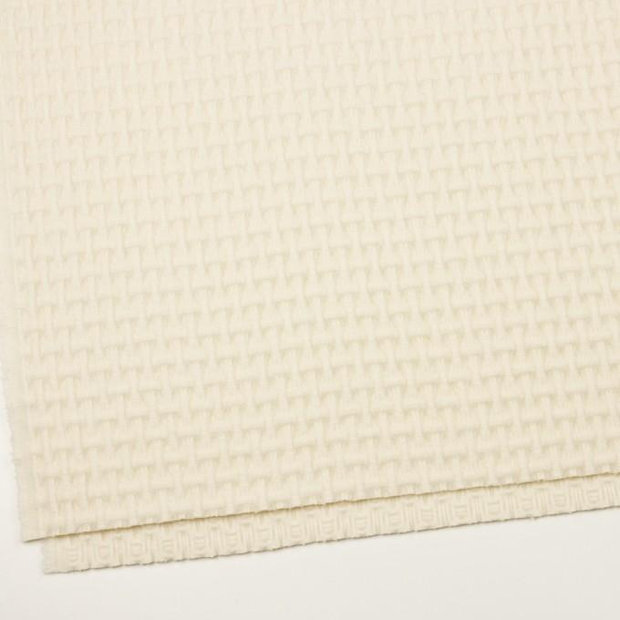 ウール×無地(エクリュ)×蜂巣織_イタリア製 イメージ2