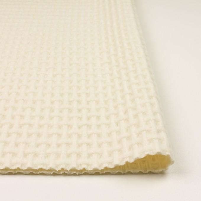 ウール×無地(エクリュ)×蜂巣織_イタリア製 イメージ3