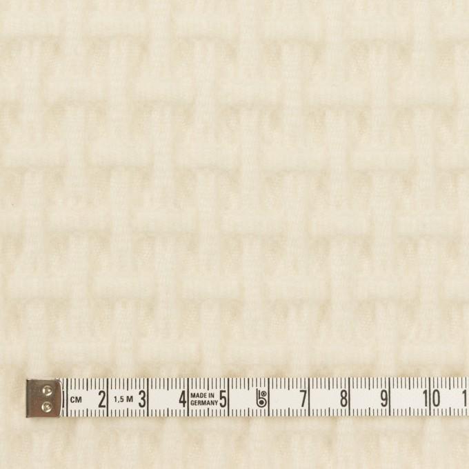 ウール×無地(エクリュ)×蜂巣織_イタリア製 イメージ4