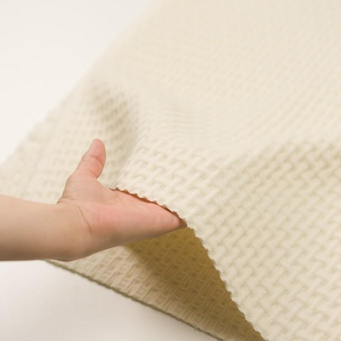 ウール×無地(エクリュ)×蜂巣織_イタリア製 イメージ5