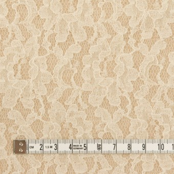 アクリル&ウール混×フラワー(ベージュ)×ラッセルレース&メッシュニット サムネイル4