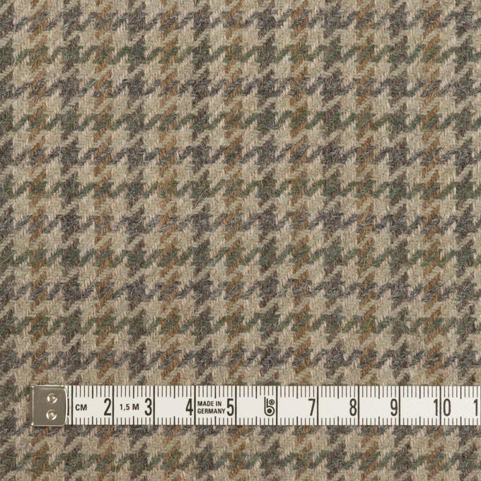 ウール&アンゴラ×千鳥格子(グレイッシュベージュ、モカ&グレー)×カルゼ イメージ4