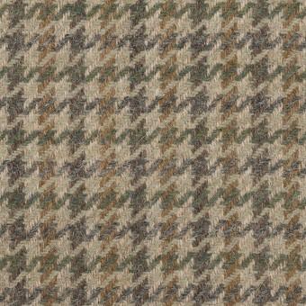 ウール&アンゴラ×千鳥格子(グレイッシュベージュ、モカ&グレー)×カルゼ