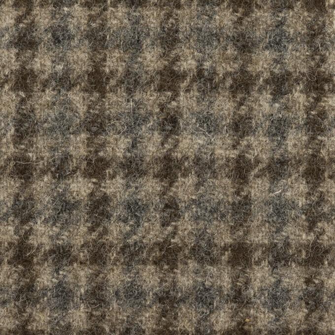 ウール×チェック(グレイッシュベージュ、ダークブラウン&グレー)×ツイード イメージ1