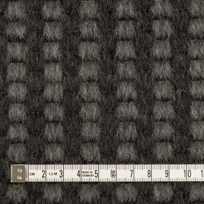 モヘア&ウール×ミックス(チャコール)×シャギー イメージ4
