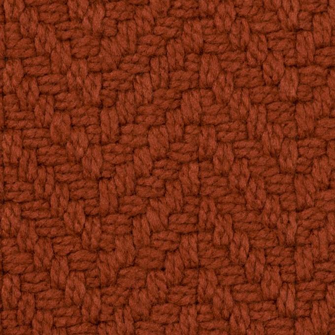 アクリル&ポリエステル混×無地(レンガ)×斜子織_全2色 イメージ1