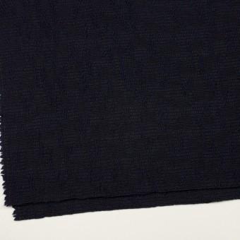 ウール&コットン混×無地(ダークネイビー)×かわり織 サムネイル2