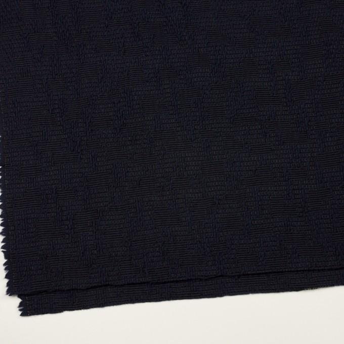 ウール&コットン混×無地(ダークネイビー)×かわり織 イメージ2