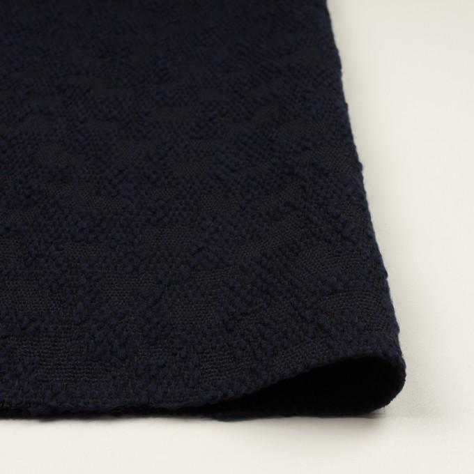 ウール&コットン混×無地(ダークネイビー)×かわり織 イメージ3