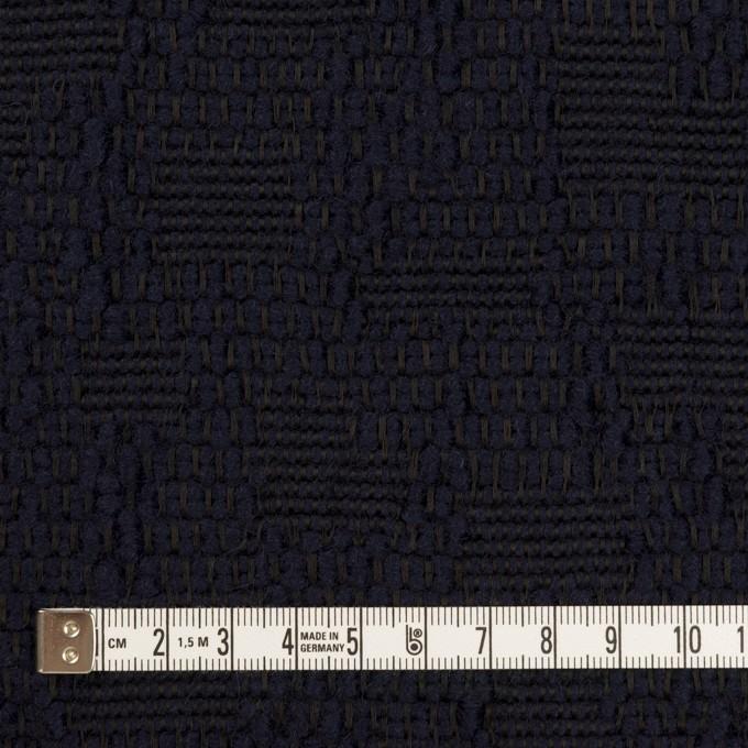 ウール&コットン混×無地(ダークネイビー)×かわり織 イメージ4