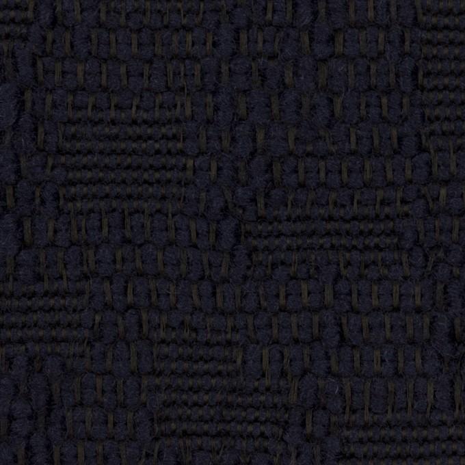 ウール&コットン混×無地(ダークネイビー)×かわり織 イメージ1