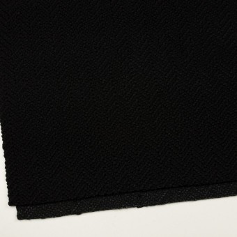 アクリル&ポリエステル混×無地(ブラック)×斜子織 サムネイル2