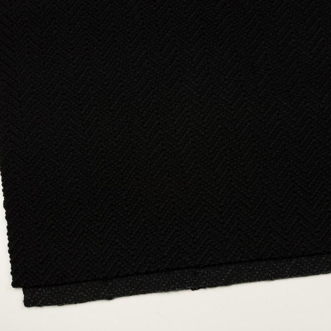 アクリル&ポリエステル混×無地(ブラック)×斜子織 イメージ2