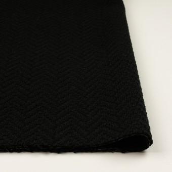 アクリル&ポリエステル混×無地(ブラック)×斜子織 サムネイル3