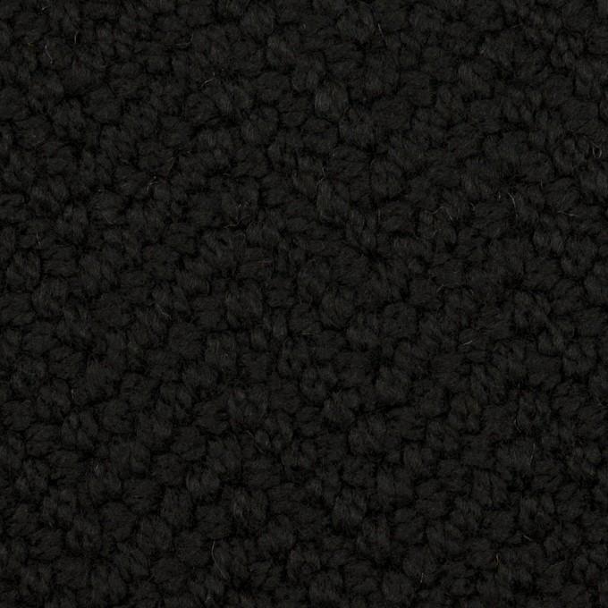 アクリル&ポリエステル混×無地(ブラック)×斜子織 イメージ1
