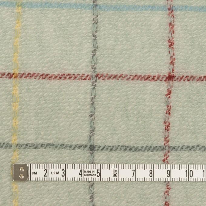 ウール×チェック(サックスグレー)×ガーゼ イメージ4