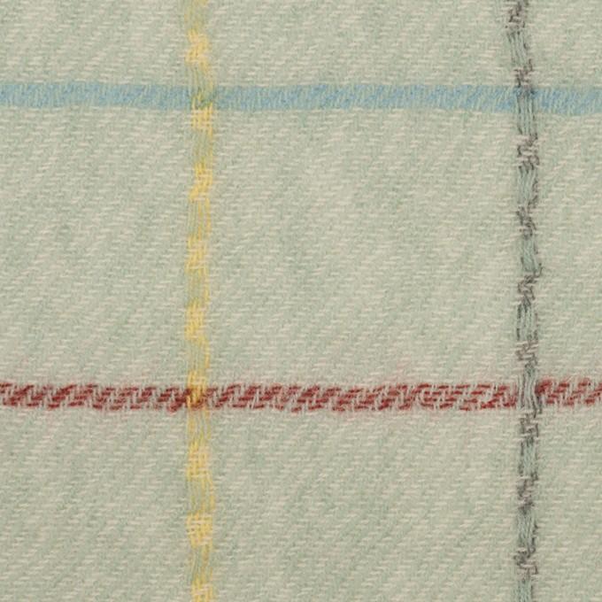 ウール×チェック(サックスグレー)×ガーゼ イメージ1