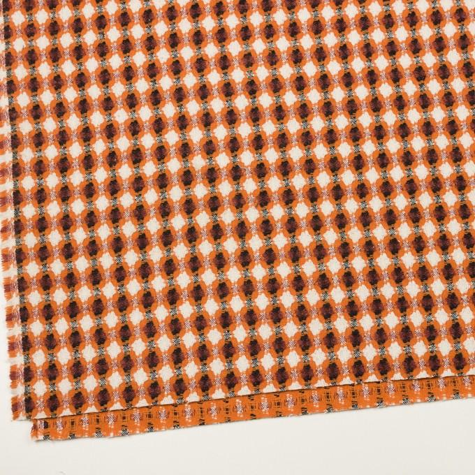 コットン&ポリエステル×フラワー(オレンジ)×ドビー_全3色 イメージ2