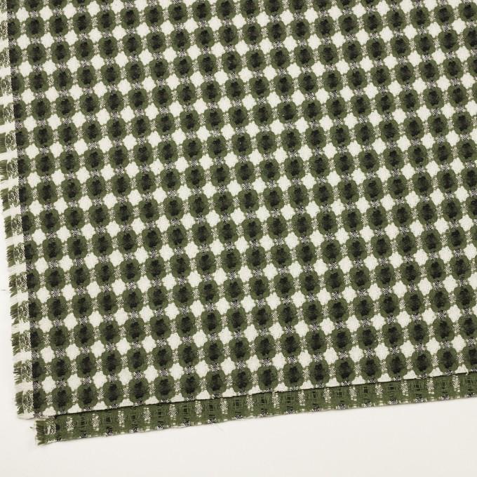 コットン&ポリエステル×フラワー(グリーン)×ドビー_全3色 イメージ2
