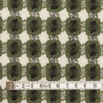 コットン&ポリエステル×フラワー(グリーン)×ドビー_全3色 サムネイル4