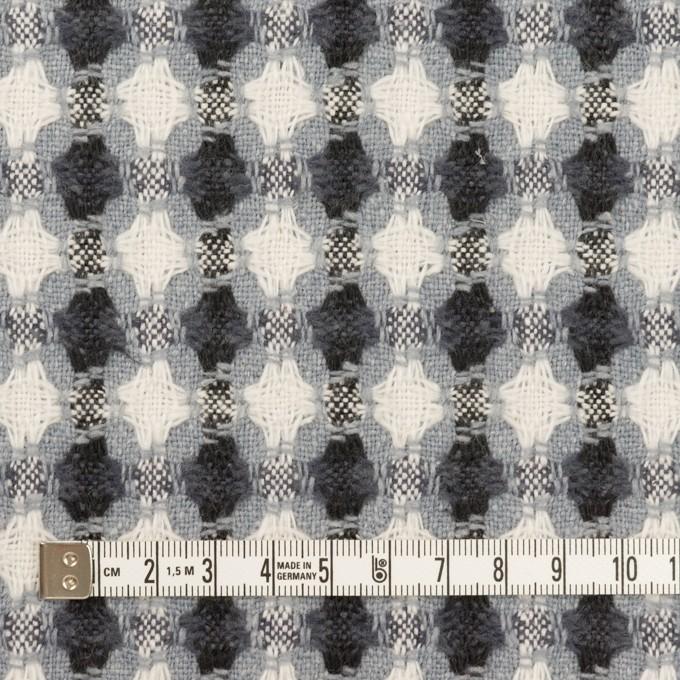 コットン&ポリエステル×フラワー(ブルーグレー)×ドビー_全3色 イメージ4
