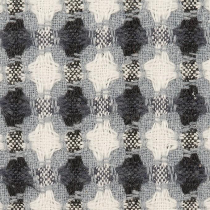コットン&ポリエステル×フラワー(ブルーグレー)×ドビー_全3色 イメージ1