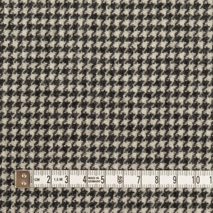 ウール×チェック(アイボリー&チャコールブラック)×ツイード イメージ4