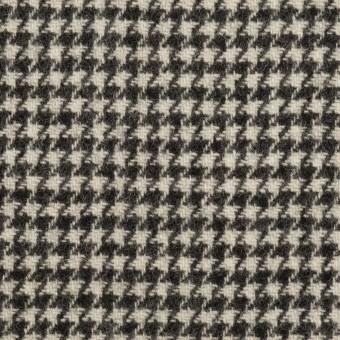 ウール×チェック(アイボリー&チャコールブラック)×ツイード