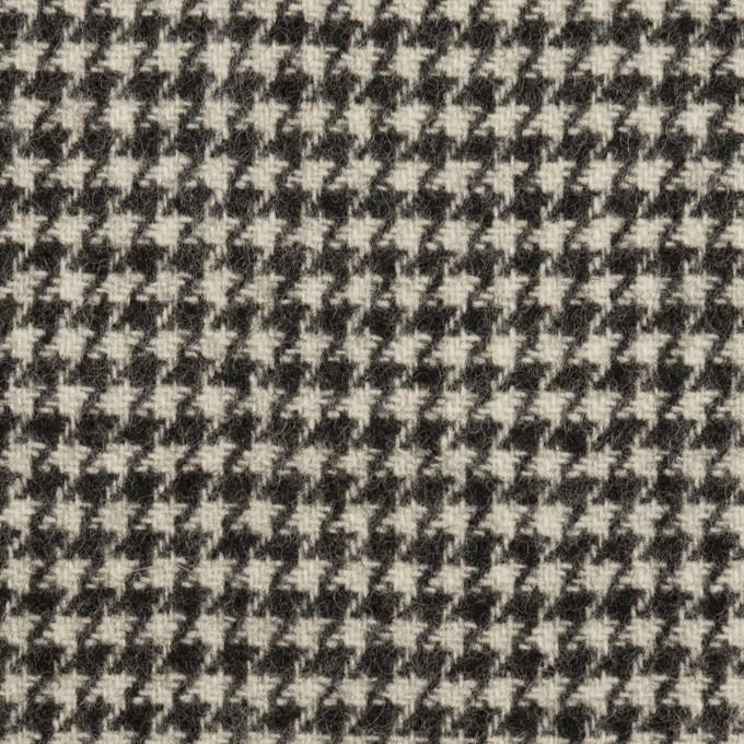 ウール×チェック(アイボリー&チャコールブラック)×ツイード イメージ1