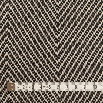 ウール&コットン×ミックス(キナリ&ブラック)×斜子織 サムネイル4