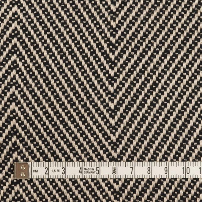 ウール&コットン×ミックス(キナリ&ブラック)×斜子織 イメージ4