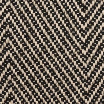 ウール&コットン×ミックス(キナリ&ブラック)×斜子織