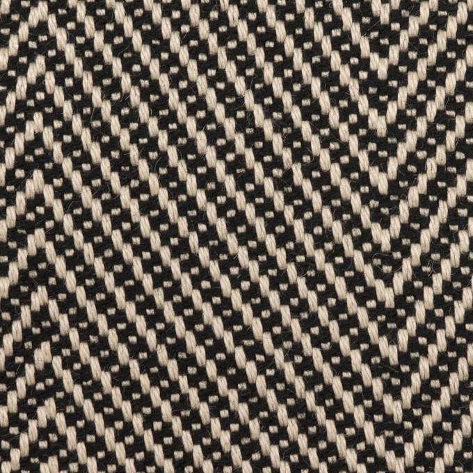 ウール&コットン×ミックス(キナリ&ブラック)×斜子織 イメージ1
