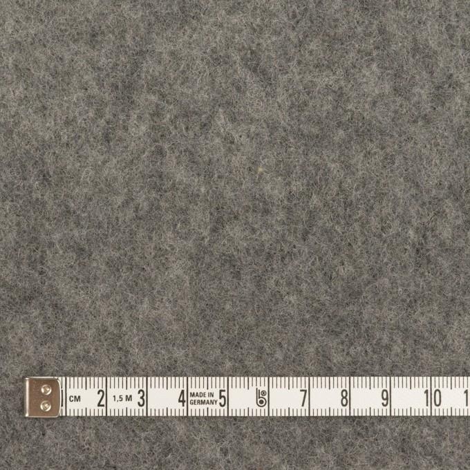 ウール&ポリエステル×無地(チャコールグレー)×フリースニット イメージ4