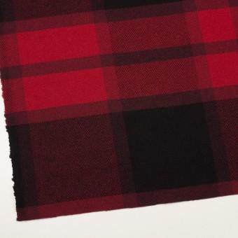 ウール&ナイロン×チェック(レッド&ブラック)×厚カルゼ_パネル_全2色 サムネイル2