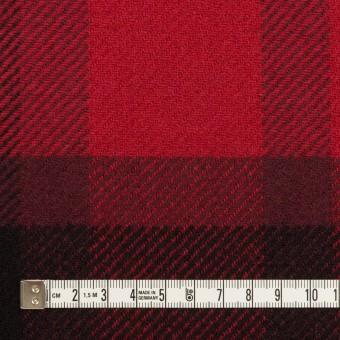 ウール&ナイロン×チェック(レッド&ブラック)×厚カルゼ_パネル_全2色 サムネイル4
