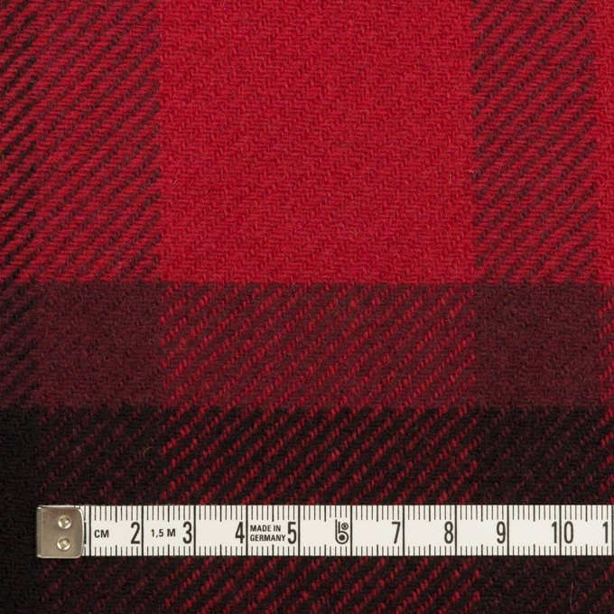 ウール&ナイロン×チェック(レッド&ブラック)×厚カルゼ_パネル_全2色 イメージ4