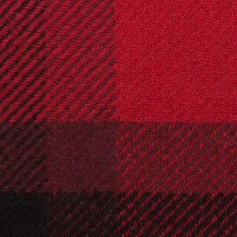 ウール&ナイロン×チェック(レッド&ブラック)×厚カルゼ_パネル_全2色