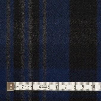 ウール&ナイロン×チェック(マリンブルー&ブラック)×ツイード サムネイル4