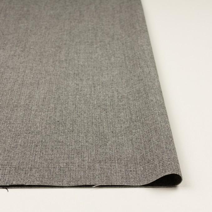 ポリエステル&レーヨン混×無地(グレー)×千鳥格子ストレッチ イメージ3