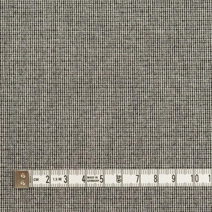 ポリエステル&レーヨン混×無地(グレー)×千鳥格子ストレッチ イメージ4