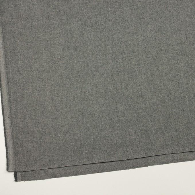 コットン&ポリウレタン×無地(チャコールグレー)×オックスフォード・ストレッチ イメージ2
