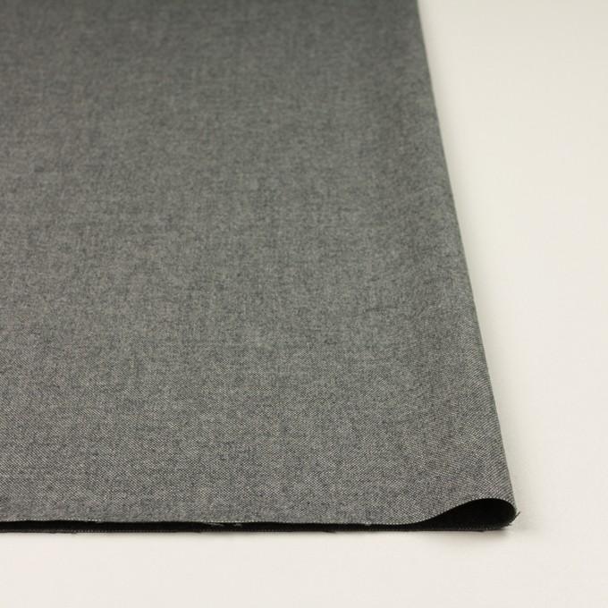 コットン&ポリウレタン×無地(チャコールグレー)×オックスフォード・ストレッチ イメージ3